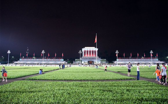 The Ho Chi Minh mausoleum in