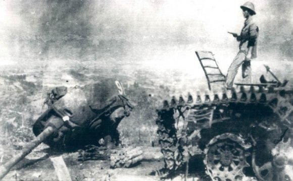 Chinese tank destroyed in Cao
