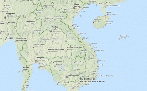 Map of Vietnam in ExpertGPS