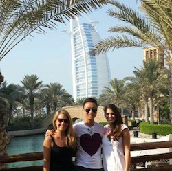 ally jones in dubai with pals