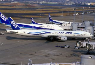 ANA airplanes at Haneda Airport.