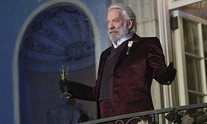 Donald Sutherland as President Snow in The Hunger Games: getting Fir