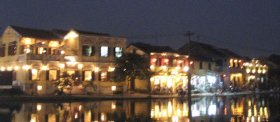 Hoi An, Vietnam during the night