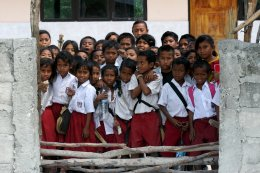 children at school consistent in Timor, Indonesia.