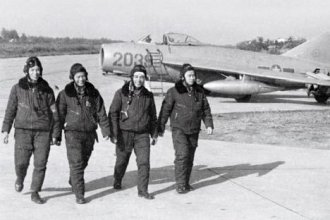 North Vietnamese Air energy MiG-17 pilots walk by their particular aircraft. Resource: wikipedia