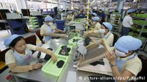 Production at an Adidas plant in Vietnam's Ho Chi Minh City