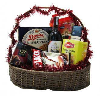 Wine, tea, sodas, cookies, chocolates are widely-used as typical gift suggestions.