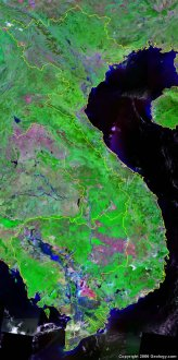 Vietnam satellite photo
